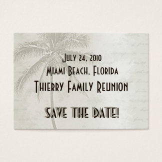 Tropical Save the Date (taupe) Business Card