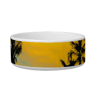 Tropical Scene at Sunset Time Bowl