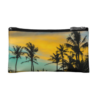 Tropical Scene at Sunset Time Cosmetic Bag