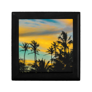 Tropical Scene at Sunset Time Gift Box