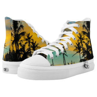 Tropical Scene at Sunset Time High Tops