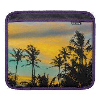 Tropical Scene at Sunset Time iPad Sleeve