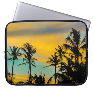 Tropical Scene at Sunset Time Laptop Sleeve
