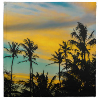 Tropical Scene at Sunset Time Napkin