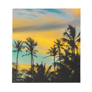 Tropical Scene at Sunset Time Notepad