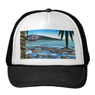 Tropical Scene Trucker Hat
