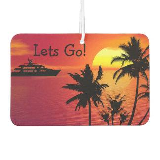 Tropical Scenic Sunset Car Air Freshener