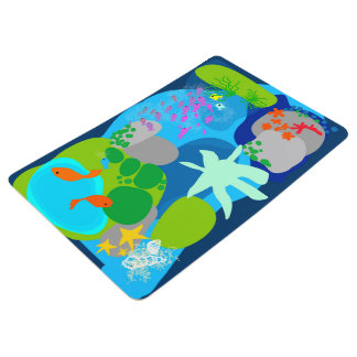 Tropical sea Collection floor mat by Gemma Orte