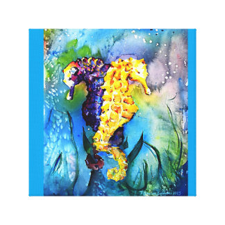 Tropical Seahorses Underwater Canvas Print