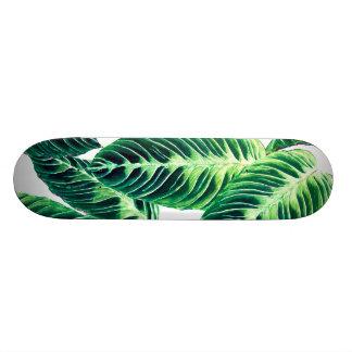 Tropical Seamless leaf pattern Custom Skateboard
