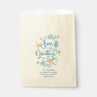Tropical SEAson's Greetings Optional Personalized Favour Bag