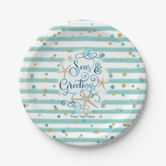 Tropical SEAson's Greetings Party Paper Plate