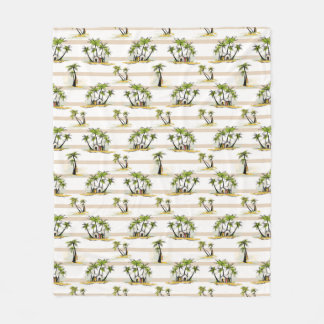 Tropical Shack And Palms Fleece Blanket