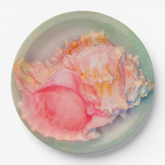 Tropical Shell Paper Plate