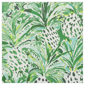 TROPICAL SITCH Green Pineapple Watercolor Fabric