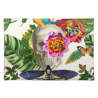 Tropical Skull Placemat