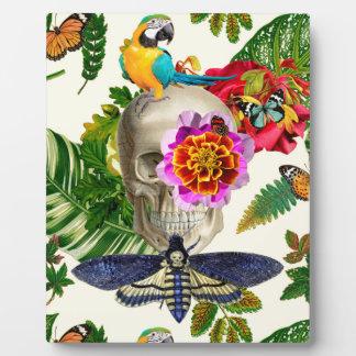 Tropical Skull Plaque