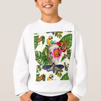 Tropical Skull Sweatshirt