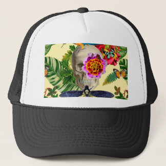 Tropical Skull Trucker Hat
