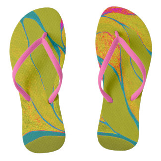 Tropical Splash Flip Flops
