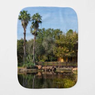 Tropical Springs Paradise Burp Cloth