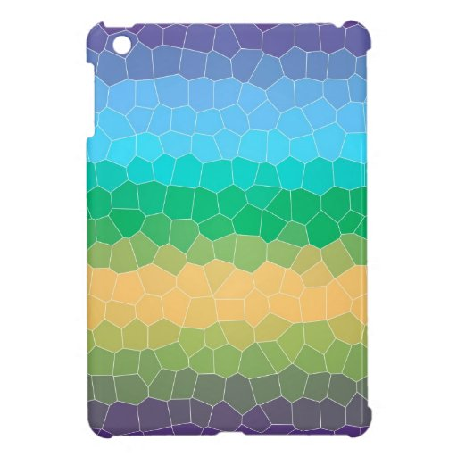 Tropical stained glass iPad mini cases