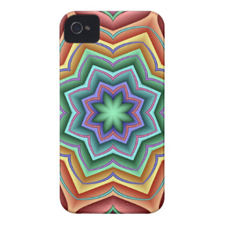Tropical Star flower, decorative abstract iPhone 4 Cases