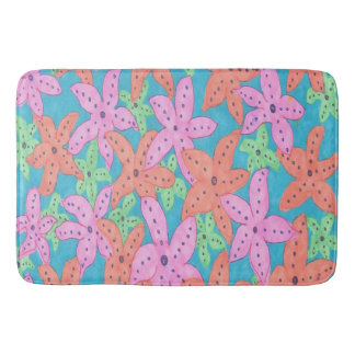 Tropical Starfish Bath Mat