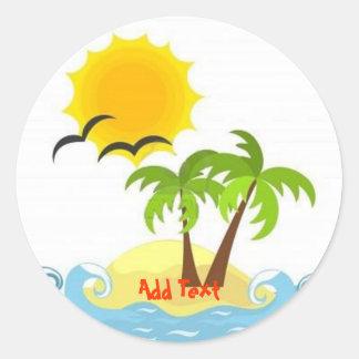 Tropical sticker template