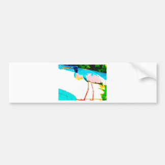 Tropical stork graphic theme bumper sticker