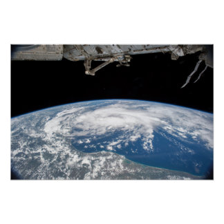 Tropical Storm Bill From The Int. Space Station Poster