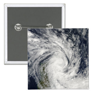 Tropical Storm Jade coming ashore over Madagasc 15 Cm Square Badge