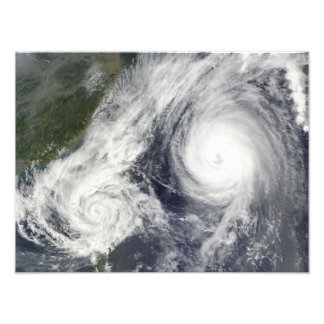 Tropical Storm Parma and Super Typhoon Melor Photo