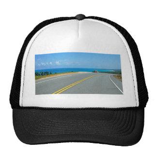 tropical street trucker hat
