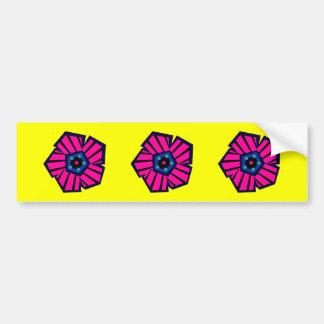 Tropical Striped Flower No1 Bumper Stickers