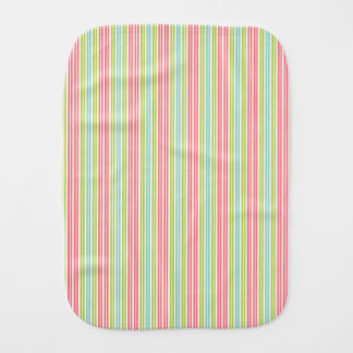 Tropical Stripes Personalized Burp Cloths