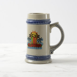 Tropical summer beer stein