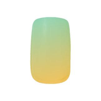 Tropical Summer Blended Finger Nail Art