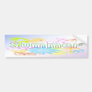Tropical Summer Bumper Sticker Car Bumper Sticker