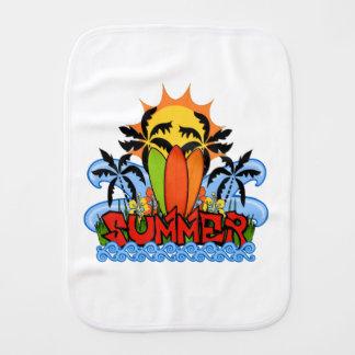 Tropical summer burp cloth
