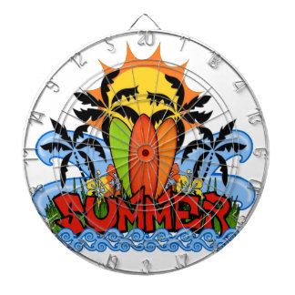 Tropical summer dartboard