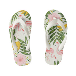 Tropical Summer Flamingo Flip Flops Thongs