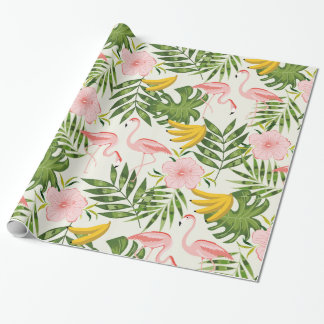 Tropical Summer Flamingo Wrapping Paper