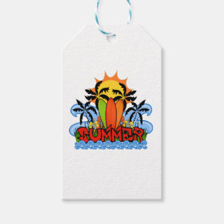 Tropical summer gift tags