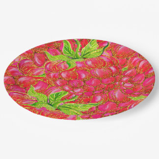 Tropical Summer Glitter Paper Plate