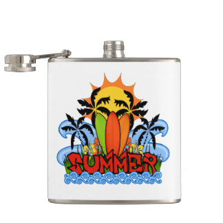 Tropical summer hip flask
