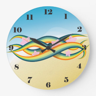 Tropical Summer Island Tentacles Large Clock