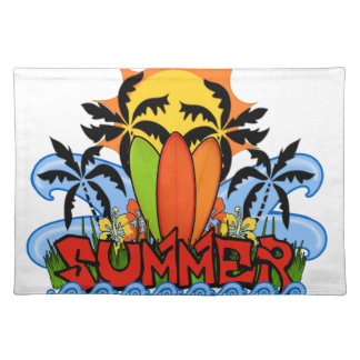 Tropical summer placemat