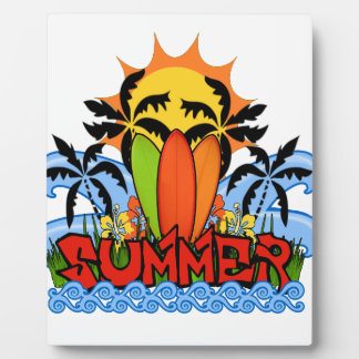 Tropical summer plaque