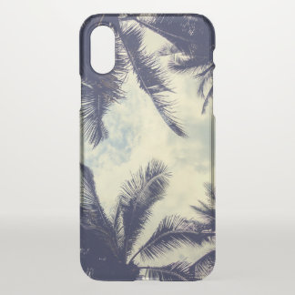 Tropical Summer Sky and Palm Leaves iPhone X Case